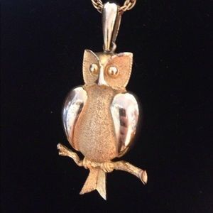 Jewelry - Owl on Branch Necklace